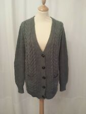 Gilet gris grosse maille taille M ZARA