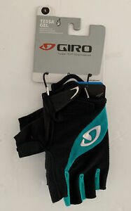 NEW Giro Tessa Gel Women's Road Cycling Gloves - Black/ Green. Women Large
