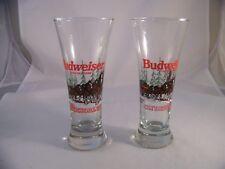 "2 Budweiser Clydesdales Pilsners 1989 Christmas Snow Scene Anheuser Busch 7""tall"