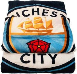 Manchester City Football Club Luxury Fleece Sherpa Plush Blanket