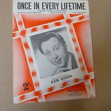song sheet ONCE IN EVERY LIFETIME Ken Dodd 1961