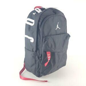 Nike Jordan Air Patrol School Backpack One Size Black / Red 9A0172-023 New