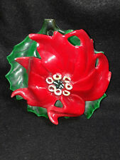Poinsettia With Leaf Wall Pocket