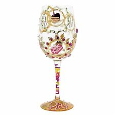 Lolita Hand Painted Queen For A Day Large Wine Cocktail Glass Diamante Gems Gift