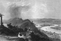 Mount Holyoke, Northampton CONNECTICUT RIVER OXBOW ~ 1854 Art Print Engraving
