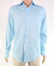 Calvin Klein Mens Dress Shirt Blue US 15 1/2 Steel Slim-Fit Stretch $79 #444