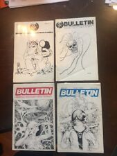 4 Issues of Science Fiction Writers of America Bulletins (Sfwa) 1977, 78, 80, 81