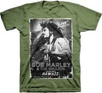 Zion Rootswear Bob Marley & The Wailers Hawaii Live Concert Tee Shirt ZRBM0013