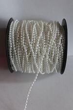 Erhältlich in Diff Breiten /& Längen Polster Etc Weiß Waschbar Rohr Schnur