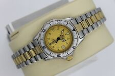 Tag Heuer 2000 Professional Classic Silver Gold 974.008 Watch Womens Excellent