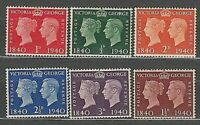Grande Bretagne - Courrier 1940 Yvert 227/32 MNH Victoria Et George VI