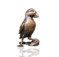 Bird Bronze Miniature Sculpture - Puffin - Butler & Peach.