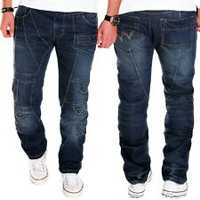 Men's Jeans Chino Blue Kosmo Pants Trousers Lupo Destroyed Clubwear New J.5.7