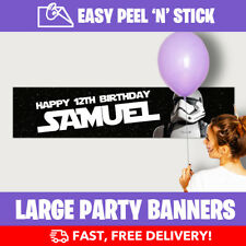 Star Wars Personalised Birthday Party Banner Storm (110cm x 25cm) Lowest Prices