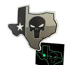 Punisher Texas Lone Star PVC 3D glow dark ACU DEVGRU tag patch VELCRO® brand