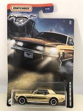New Listing2020 Matchbox Walmart Exclusive 1968 Ford Mustang Gt Cs (Gold) #10/12 Metal