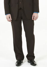 Wool Patternless Pleated Trousers for Men