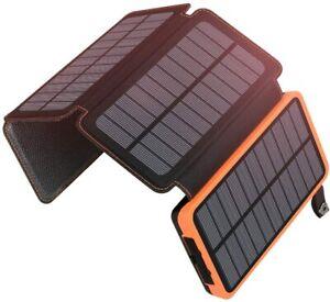 A ADDTOP Solar Powerbank 25000mAh Tragbare Ladegerät mit 4 Orange