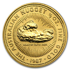 1987 Australia 1/2 oz Gold Nugget BU - SKU #73672