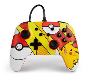 PowerA Pokémon Enhanced Wired Controller for Nintendo Switch – Pikachu Pop Art