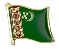 Kazakhstan Flag Lapel Pin Badge  High Quality Gloss Enamel