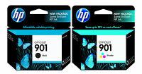 GENUINE NEW HP 901  (CC653AN/CC656AN) Black Color Ink Cartridge 2-Pack
