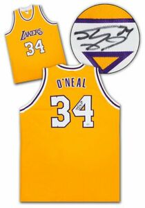 Shaquille O'Neal Los Angeles Lakers Autographed Basketball Jersey