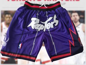 Toronto Raptors Shorts Mens Purple Pocket Basketball Shorts