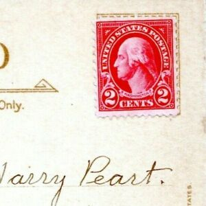 George Washington Red Two Cent Stamp 2 Cents No Postmark on Postcard Paper KM