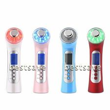 Photon 12x LED 3Mhz Ultrasonic Galvanic Ion Face Skin Care Massager Anti arrugas