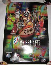 WNBA 1997 Season poster RARE! Rebecca Lobo Lisa Leslie Cynthia Cooper Basketball