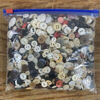 Vintage Button Collection 1 lbs 9.9 oz  Large Variety Mixed Lot Assorted