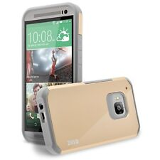 HTC ONE M9 Case, Hard Impact Dual Layer Shockproof Bumper Silicone Case