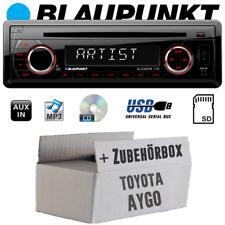 Blaupunkt Autoradio für Toyota Aygo Radio CD/MP3/USB Einbauzubehör Einbauset PKW