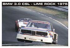 BMW 3.0 CSL - Lime Rock 1975 A  Rare Classic Shot! Car Poster :>)