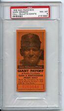 1958 San Francisco Marv Grissom Call Bulletin Giants PSA 8 Pop 1