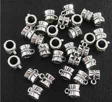 Wholesale 50pcs Tibetan Silver Connectors Bails fit charm bead bracelet B172 hot