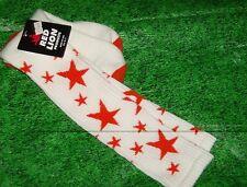 Star Sock Sz 9-11 Custom white/orange