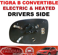 VAUXHALL TIGRA B CONVERTIBLE ELECTRIC HEATED WING MIRROR GLASS DRIVERS OFF SIDE