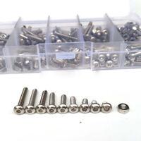 280pcs M3 Stainless Steel Screws Countersunk Head Screw Hexagonal Nuts Kit