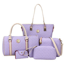 Mode 6× Damen Handtaschen Schulter Beutel Geldbeutel Taschen Set Unterarmtasche