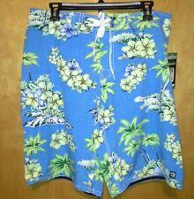 Distortion men's M custom crafted board shorts swim trunks NWT blue tropical