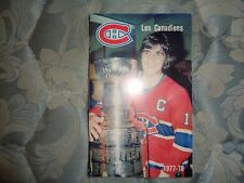 1977-78 MONTREAL CANADIENS MEDIA GUIDE Yearbook 1976-77 + 1978 CHAMPS Program AD
