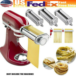 3PCS Pasta Roller Cutter Maker Attachment for Stand Mixers