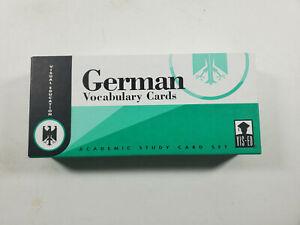 German Language Study Vocabulary Cards Academic Card Set Visual Education