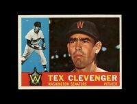 1960 Topps Baseball #392 Tex Clevenger (Senators) NM