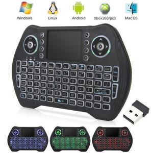 MT10 Wireless Mini Keyboard 3 Colors Backlit Remote Control for Smart TV Box