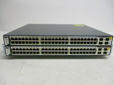 Cisco 3750G Series PoE-48 Ws-C3750G-48Ps-S V05 Switch Lot of 2