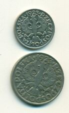 2 OLDER COINS from POLAND - 10 & 50 GROSZY (BOTH DATING 1923)
