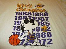 Los Angeles Lakers 1988 World Champions Vintage Shirt ( Used Size L )